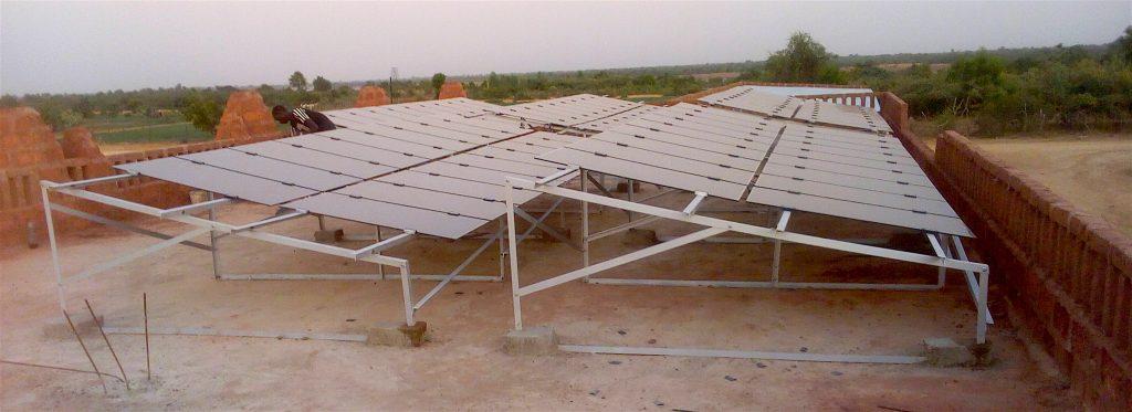 zonnepanelen op het atelier